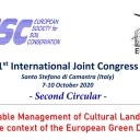 """1 st  International Joint Congress on """"Sustainable Management of Cultural Landscapes  in the context of the European Green Deal"""" Santo Stefano di Camastra (Italy)  7-10 October 2020"""